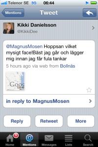 Kikki Danielssons komplimang.